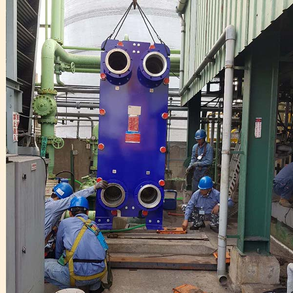 SPX APV TR9 TITAINIUM PLATE HEAT EXCHANGER IDENTICALLY REPLACEMENT PROJECT