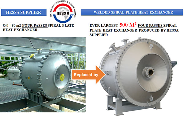 Ever Largest Four-Channel Spiral Plate Heat Exchanger